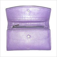 Ladies Plain Leather Wallet
