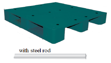 PP Plain Top Pallets with steel