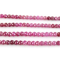Ruby Faceted Beads