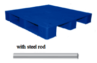Hdpe Plain Top Pallets With Steel