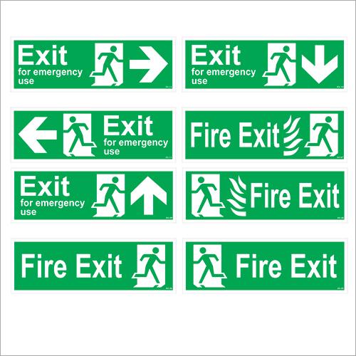 Exit Road Signages