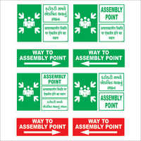 Assembly Point Safety Signages