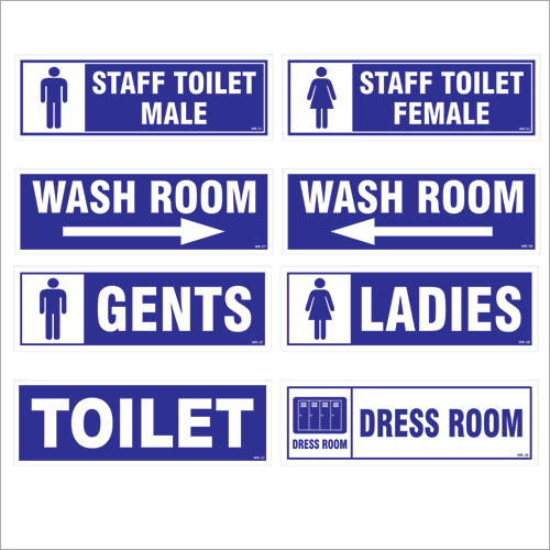 Industrial Washroom Signages