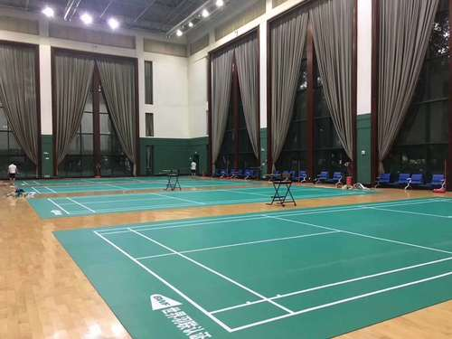 4.5mm pvc badminton sports court flooring