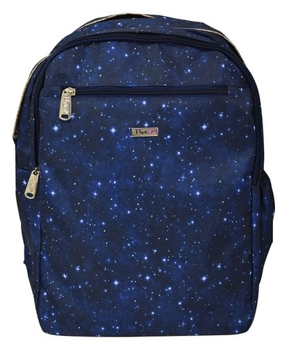 School Printed Navy Blue Backpack Bag