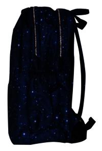 School Printed Navy Blue Backpack Bag