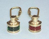 Brass Navigation Light Key Chains
