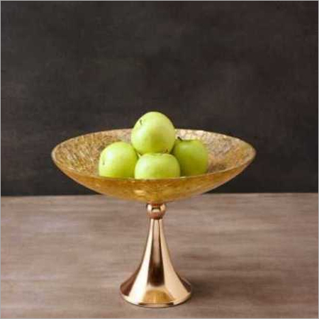 Gold Plated Fruit Basket