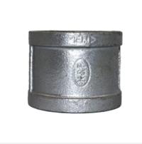 FM &UL malleable iron pipe fittings EN standard BSPT thread galvanzied sockets