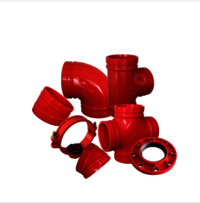 Ductile Iron Grooved Fittings FM UL Approved Fire Protection System