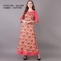 Designer A-line cotton kurti