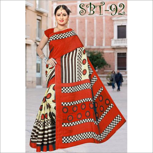 Party Wear Soft  Light  Silk Saree