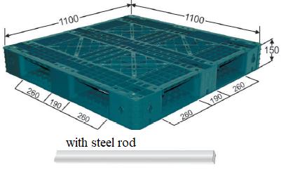 PP Export Pallet with Steel