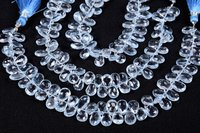 Blue Topaz Faceted Pears Beads