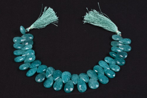 Natural Amazonite Pears Beads