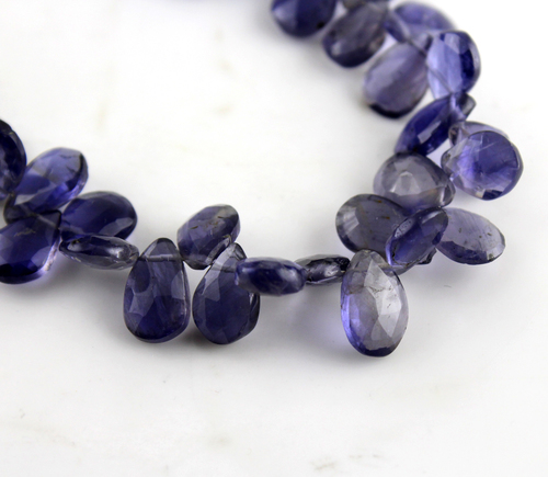 Faceted Pears Beads