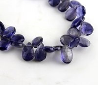 Natural Iolite Pears Beads