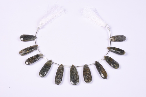 Natural Black Sunstone Beads