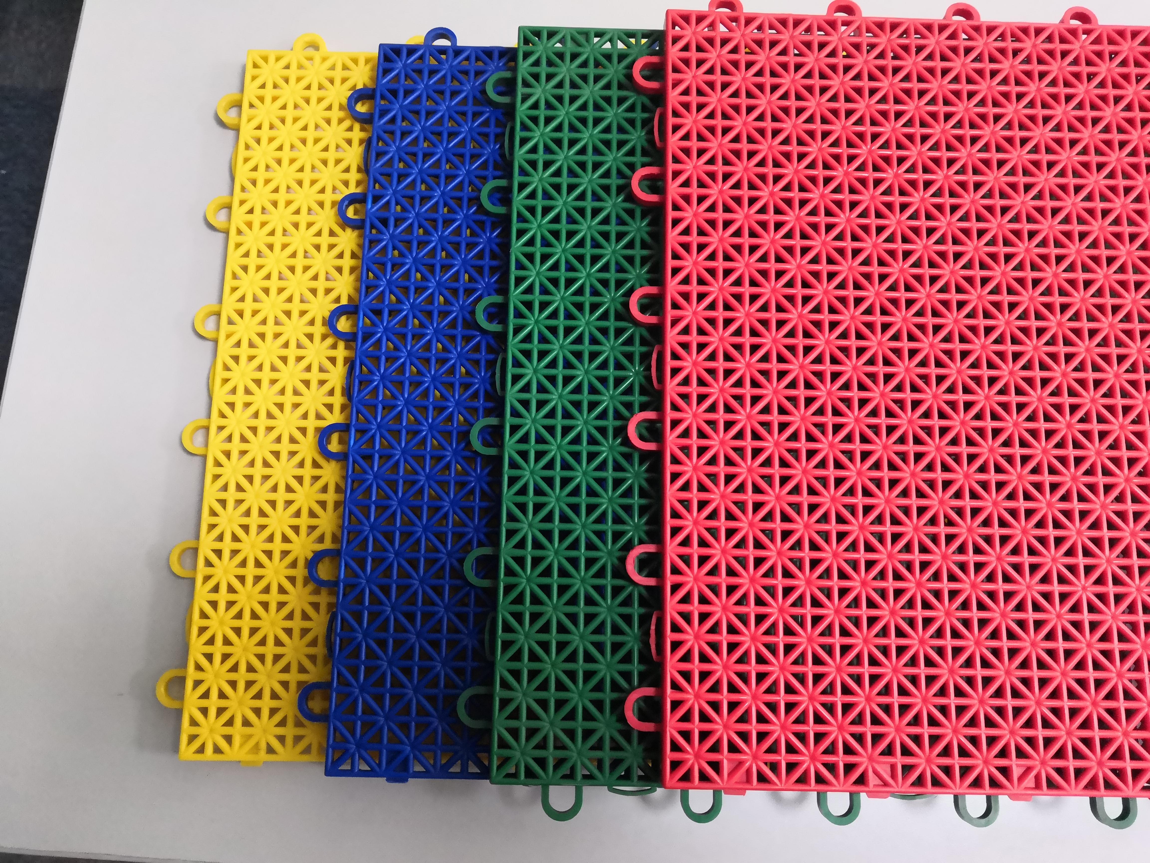 Easy install outdoor PP interlocking tiles basketball court flooring