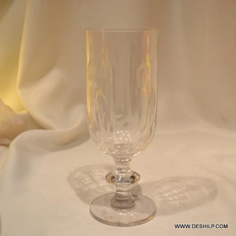 Crystal Glass Heavy Cut Flower Vase