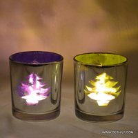 T LIGHT CANDLE WITH DECOR FINISH