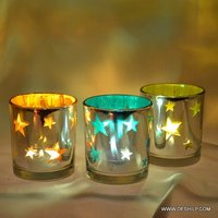 T-LIGHT CANDLE WITH STAR DESIGN