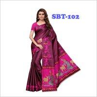 Beautiful Khadi Silk Printed  Saree
