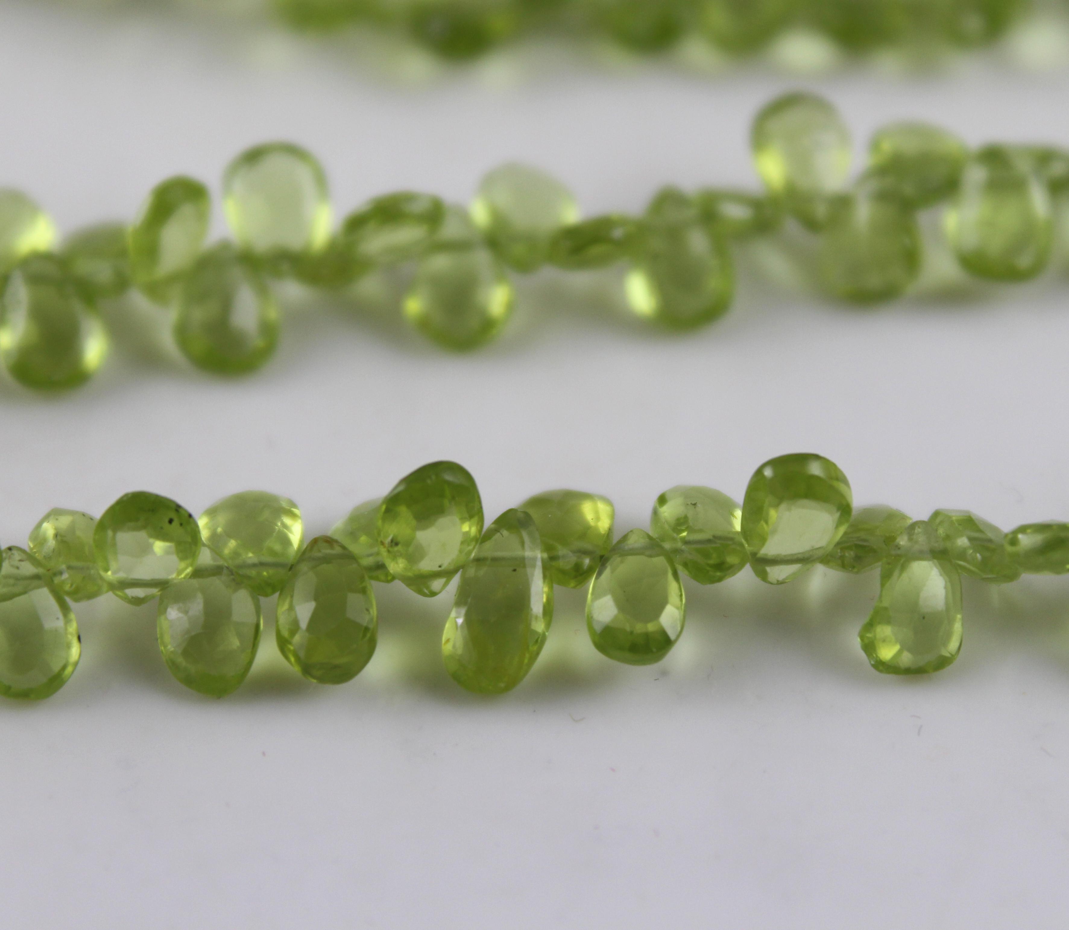 Natural Peridot Pears Beads