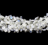 White Rainbow Pears Beads