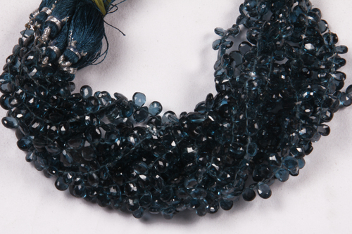 London Blue Topaz Pears Beads