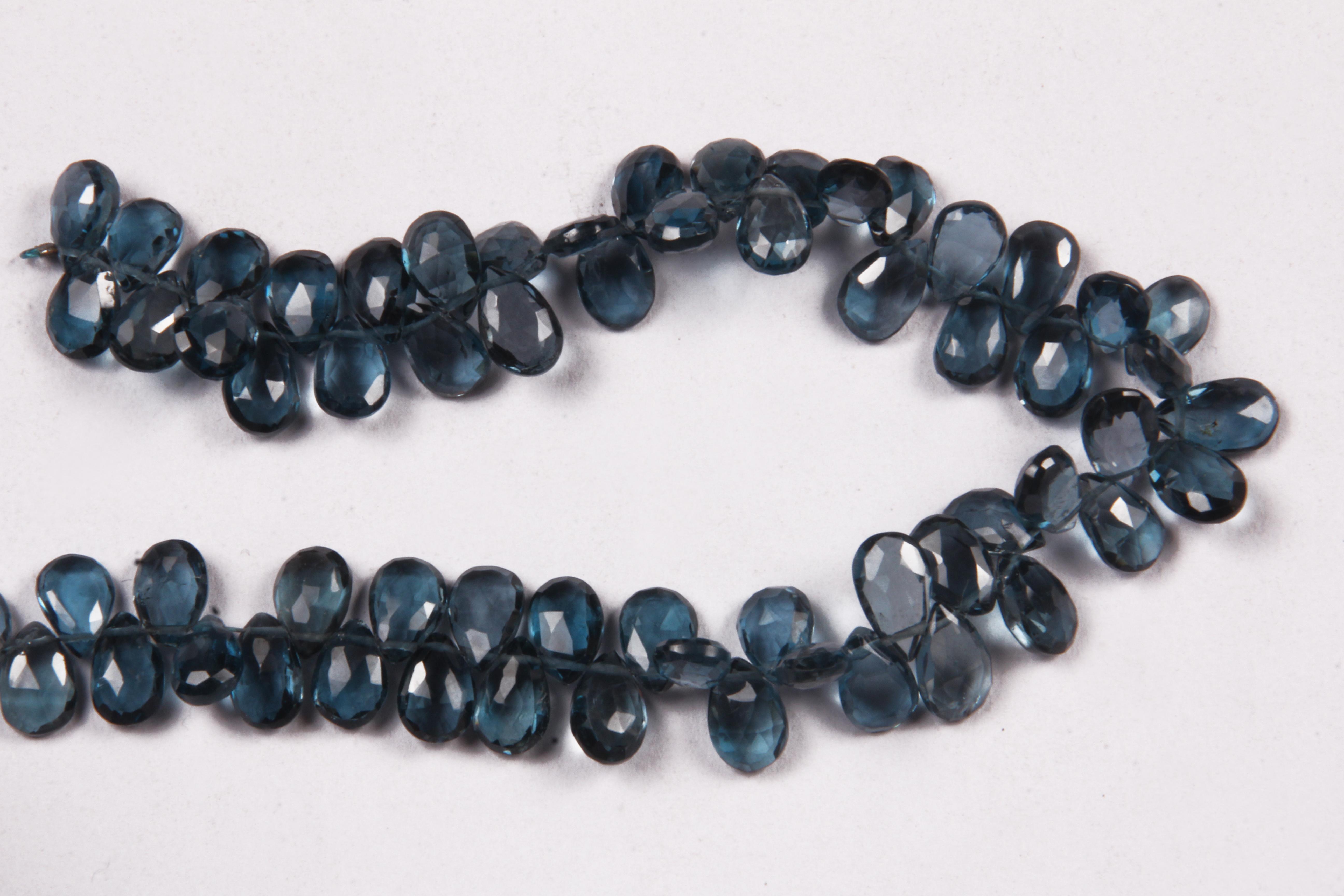 London Blue Topaz Pears Beads