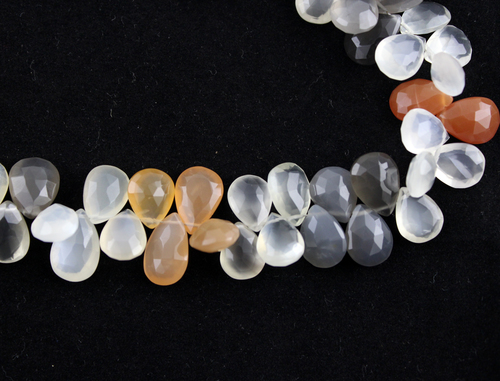 Multi Moonstone Pears Beads