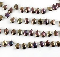 Black Spinal Pears Beads