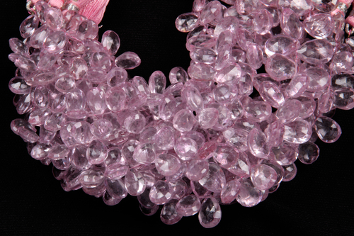 Pink Topaz Pears Beads