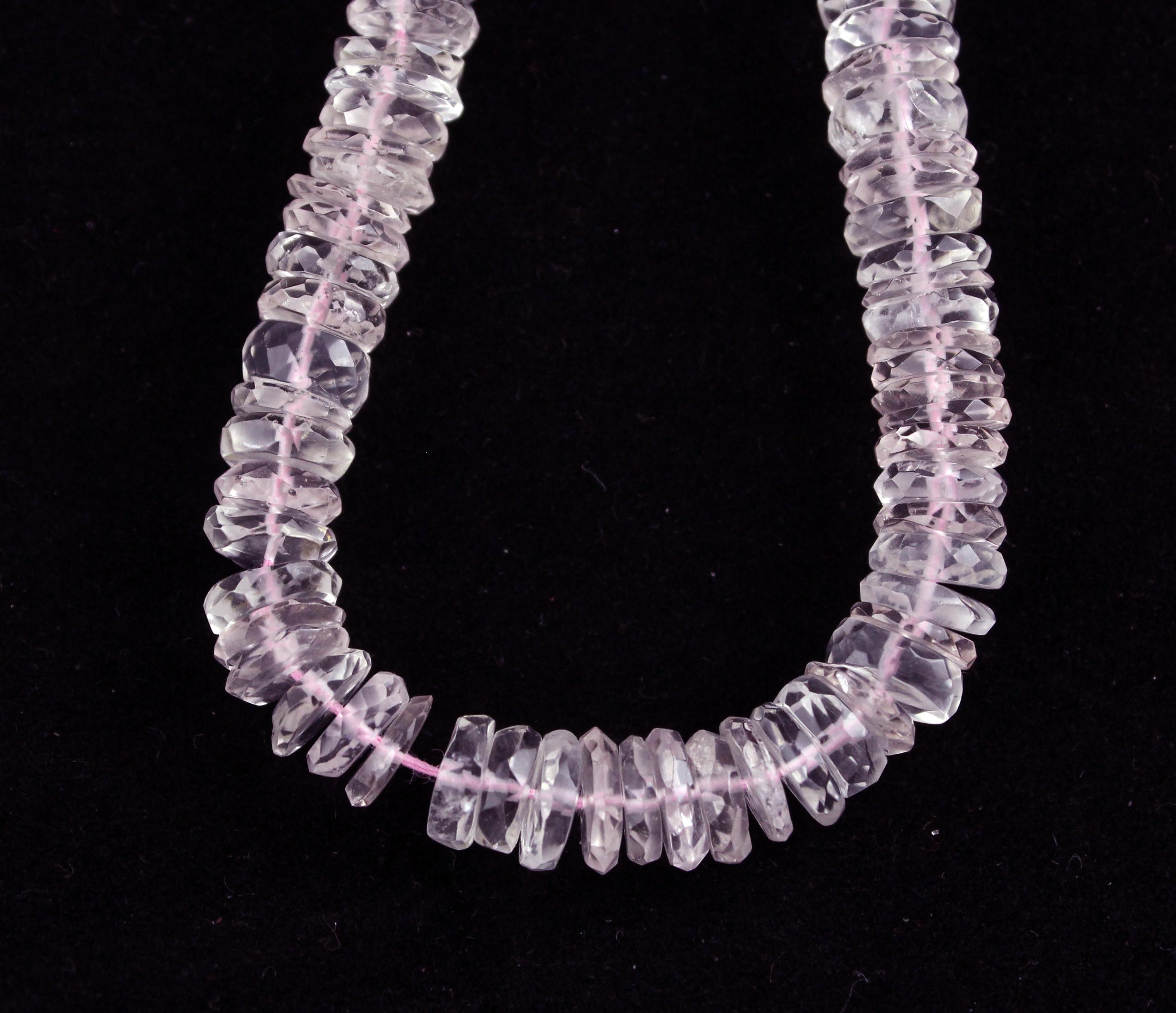 Morganite Tyre Beads