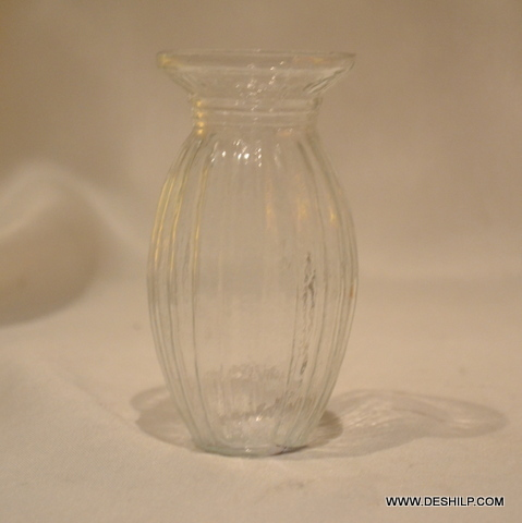 Clear Glass Small Flower Vase