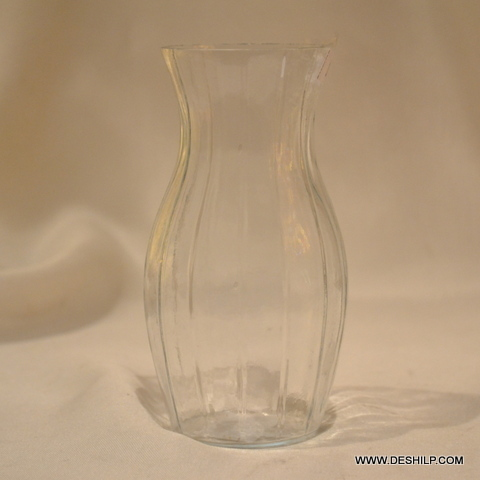 Clear Glass Decor Floor Flower Vase