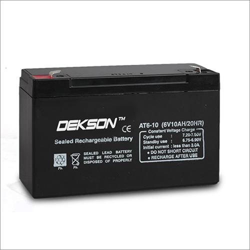 6V 10Ah SMF VRLA Battery