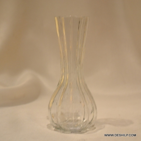 Antique Shape Glass Flower Vase for Home Decor