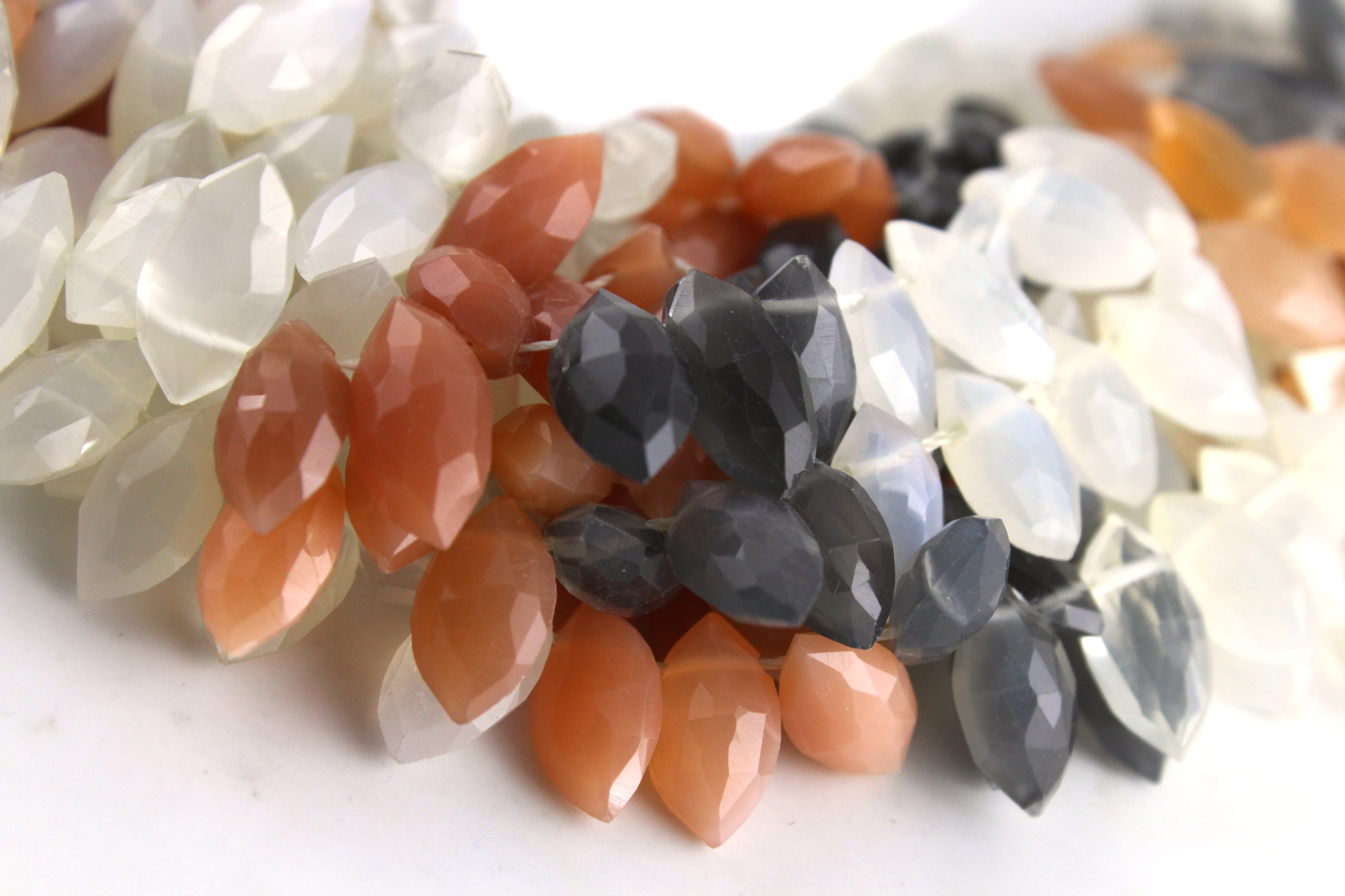 Multi Moonstone Marquise Beads