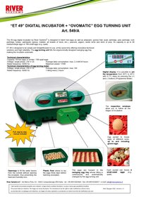 49 Capacity Small Incubator Cum Hatcher