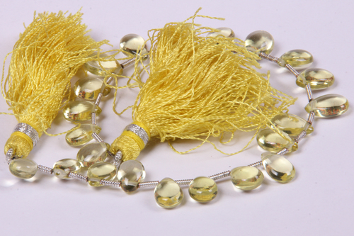 Natural Lemon Topaz Beads