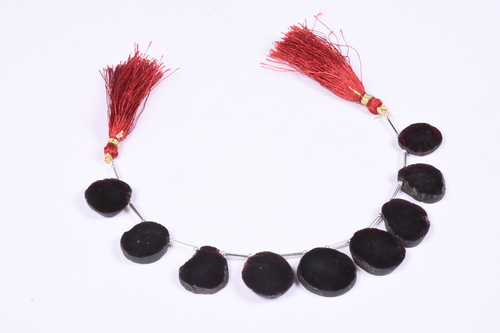 Garnet Rough Coin Beads
