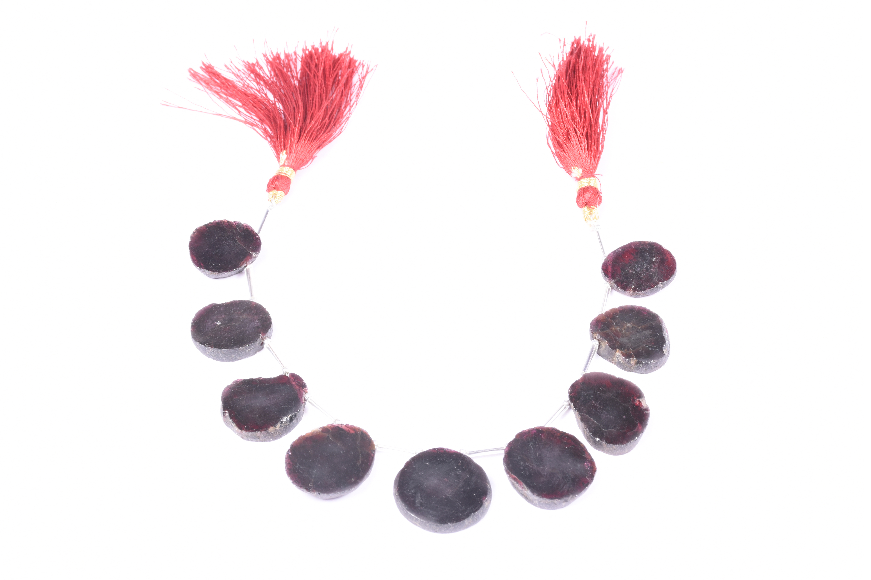 Garnet Rough Coin Beads