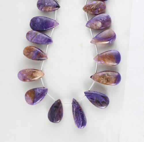 Charoite Pears Beads