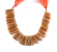 Natural Peach Moonstone Stick Beads