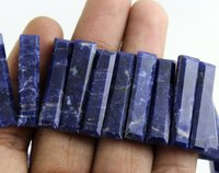Natural Sodalite Stick Beads