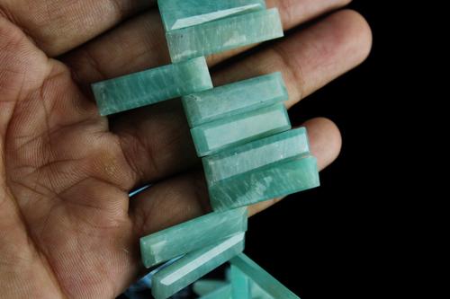 Natural Amazonite Stick Beads