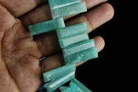 Natural Amazonite Stick Beads