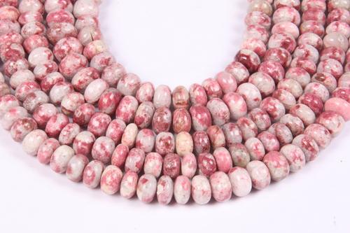 Thulite Roundel Beads